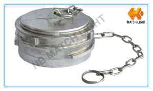Aluminum Guillemin Plug with Chain Type Fire Hose Coupling pictures & photos