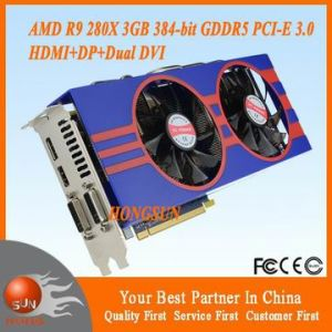 OEM AMD Radeon R9 280X 3GB 384-Bit Gddr5 PCI Express 3.0 Video Gaming Graphic Card Great to Litecoin Dogecoin