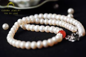 Fashion Female Beautiful Freshwater Pearl Necklace (XL1501)