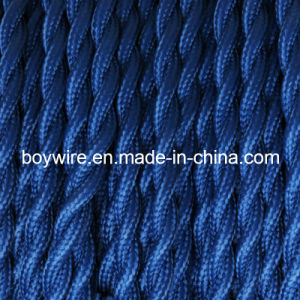 Dark Blue Twisted Cloth Covered Wire pictures & photos