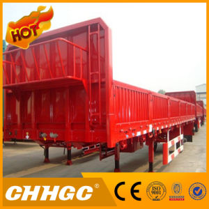 Chhgc 3axle Cargo/Fence Semi-Trailer with Flat Type
