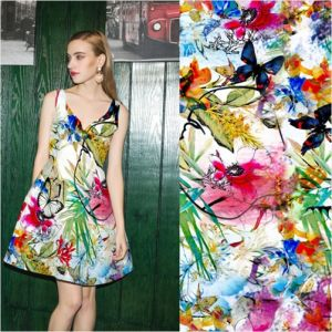 Lady Dress Digital Printing Rayon Fabric pictures & photos