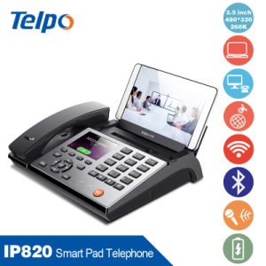 Factory Supplied Smart Business IP Telephone Bluetooth Connecting with Pad