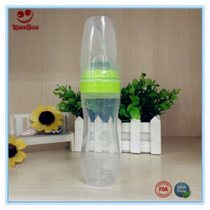 Squeezed Spoon Silicone Baby Bottle 4 Oz 0% BPA pictures & photos