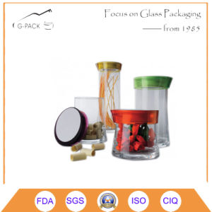 Food Grade Glass Container with Plastic Cap pictures & photos