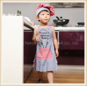 Cute Garden BBQ Grilling Chefs Cooking Bib Kids Apron