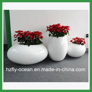 Shopping Mall Fiberglass Decor Flower Pots pictures & photos