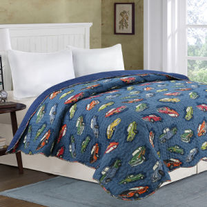 Printed Floral Cotton Patchwork Bedspread pictures & photos