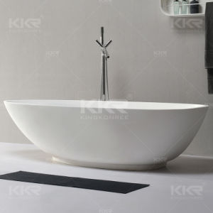 White Matte Acrylic Resin Freestanding Bathtubs (180314) pictures & photos
