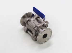 3PC Stainless Steel Clamp Ball Valve pictures & photos