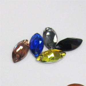 Factory Cheap Price Flat Back Navette Crystal Sew on Rhinestones for Jewelry Making pictures & photos