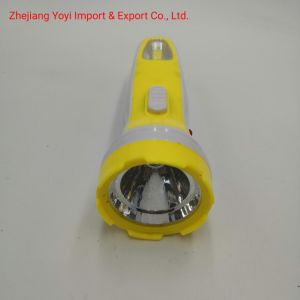 Yellow Color 8666 New ABS Plastic COB Side Light 1W Rechargeble Torch Flashlight