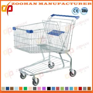 Two Basket Chrome Plated Wire Supermarket Handling Shopping Trolley (Zht202) pictures & photos