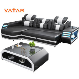 Vatar Modern Latest Living Room Italian Leather Sofa Design Foshan Shunde  Furniture Market