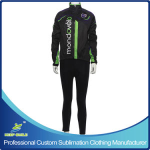Custom Made Windproof Waterproof Breathable Cycling Suit with Jacket and Tight Trouser pictures & photos