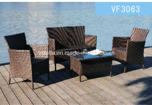 4 Piece PE Rattan Wicker Outdoor Set Garden Chair