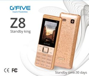 "Gfive Z8 Big Batter Long Standby Cell Phone Mobile Phone Feature Phone Basic Phone 2.4"" Dual Chip Ce FCC Bis Certificated"