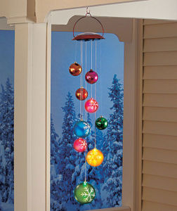 China Dazzling! Solar Lighted Holiday Ornament Hanging ...