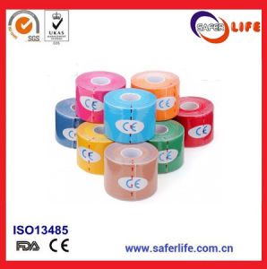 2018 Hot Sale Wholesale in Roll Waterproof Kinesiology Sport Adhesive Tape Kinesio Mueller Strong Bandage Tapekinesion Tape pictures & photos