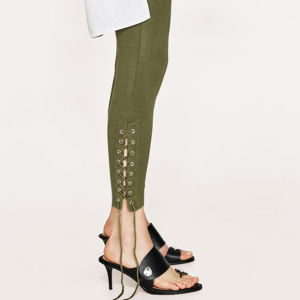 Ladies Fashion Bandage Preppy Style Jeggings Pants pictures & photos