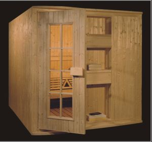 1800mm Solid Wood Sauna for 4 Persons (AT-8618) pictures & photos