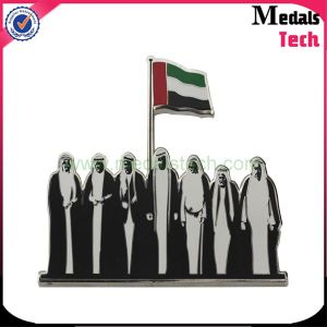 China OEM Manufacturer Custom UAE Hard Enamel Metal Lapel Pins