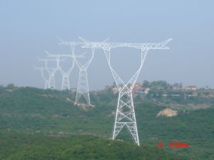 220 Kv Double Circuit Power Transmission Angle Steel Tower