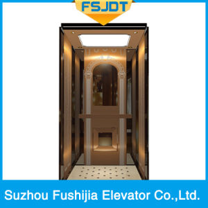 Fushijia Commercial Building Passenger Elevator with Rose Gold Stainless Steel