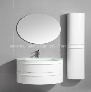 Semi-Circle PVC Bathroom Cabinet with Side Vanity pictures & photos
