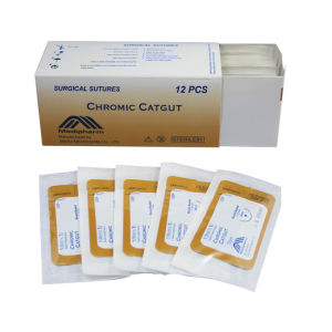 CE Medical Disposable Absorbable Chromic Catgut Suture pictures & photos