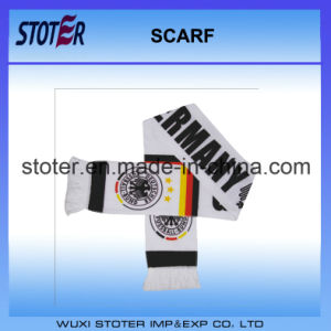 100% Polyester Satin Printing Football Fan Germany Scarf