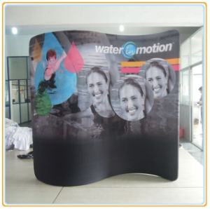 Fabric Exhibition Stand Year : China ft s wave line tension fabric display portable exhibition