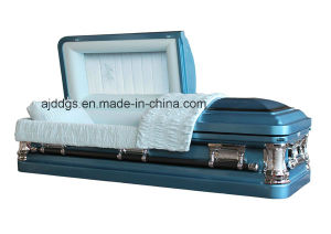Blue Shaded Black Finish Coffin