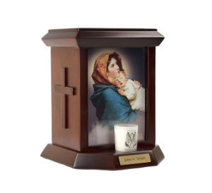 Jesus Sacred Heart Wooden Urn pictures & photos
