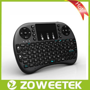 Upgraded Original Rii I8+ 2.4GHz Wireless Keyboard with LED Back-Lit! (Hot-selling) Black