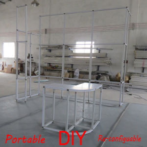 Original Beautiful Aluminum Exhibition Booth From DIY-E33 Framework Systems pictures & photos