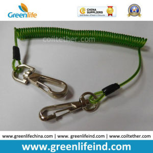 16cm Length Top Quality Green Tool Coiled Lanyard Holder