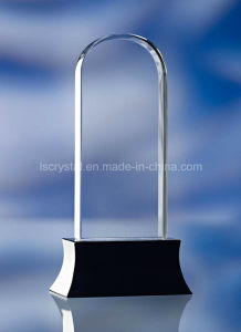 High Quality Souvenir Trophy 3D Laser Engraving Crystal Award pictures & photos