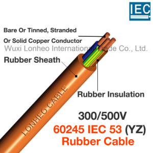60245 IEC 53 YZ 300 500V Ordinary Duty Tough Rubber Insulated And Sheathed