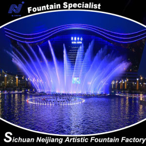 Fan Music Dancing Fountain with Colorful Lighting