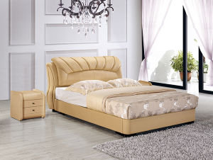 Latest Design Bed Room Furniture New Style Leather Beds