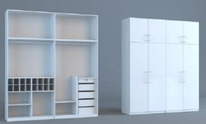 Hot Sell Bedroom Set Project Wardrobe White Color (SZ-WDP04) pictures & photos