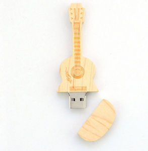 Promotion Gifts Violin Shape Wood High-Speed Flash Memory USB 2.0 pictures & photos