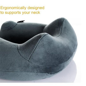 Travel U Shape Inflatable Neck Pillow on The Bus Train Airplane pictures & photos