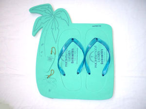 Palm Board Flip Flop Printed with Customer′s Logo
