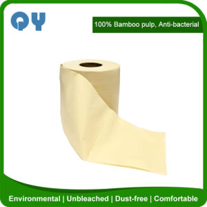 China Antibacterial 4 Ply Unbleached Bamboo Toilet Roll Paper ...