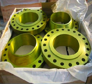 Yellow Golden Painting Weld Neck Flange, Yellow Paint Flange pictures & photos