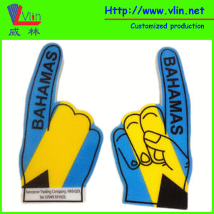 One Finger Big Foam Hand with National Flag