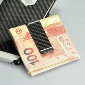 New Design Wholesale Custom High Quality Black Carbon Fiber Money Clip pictures & photos
