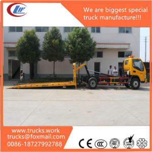 Full Sit on Ground 5600mm Working Platform Towing Wrecker Truck pictures & photos